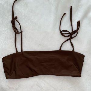 billabong brown bikini top